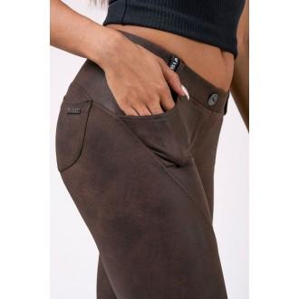 Nebbia Bubble Butt kalhoty 538 - Hnědé
