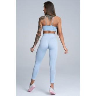 Gym Glamour Legíny Bezšvíkové Dream Blue
