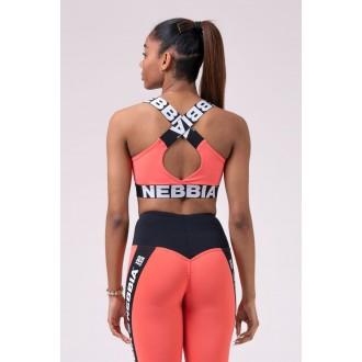 Nebbia sportovní podprsenka 535 - Broskvová