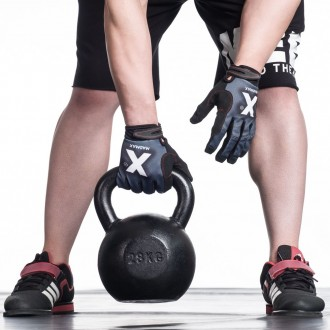 MadMax Crossfit rukavice X Gloves - Šedé