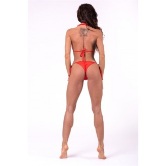 Nebbia Šněrovací scrunchies butt bikini 673 Spodní díl - Červené