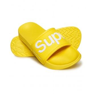 Superdry dámské pantofle EVA POOL SLIDE - Neonová žlutá