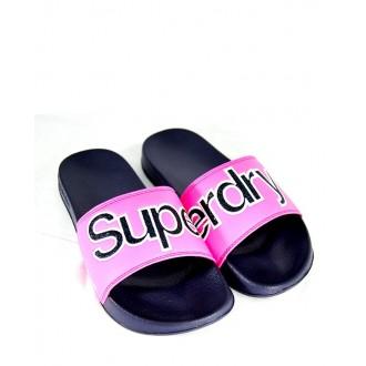 Superdry dámské pantofle Pool Slide Glitter - Růžové