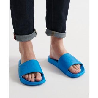 Superdry pánské pantofle City Neon - Modré