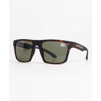 Superdry pánské sluneční brýle SDR Combat - Hnědé