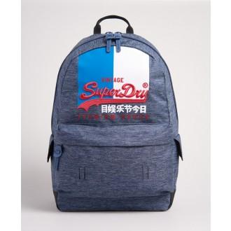 Superdry pánský batoh Vintage Logo Montana - Modrá