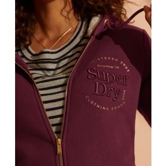 Superdry dámská mikina Zip - Fialová