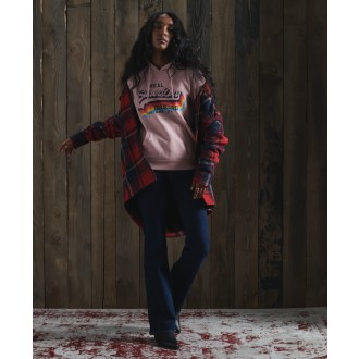 Superdry dámská mikina Vintage - Růžová