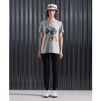 Superdry dámské tričko NYC Photo - Šedá