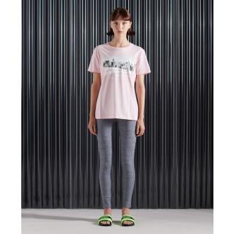 Superdry dámské tričko NYC Photo - Růžová