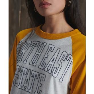 Superdry dámské tričko Baseball - Žlutá