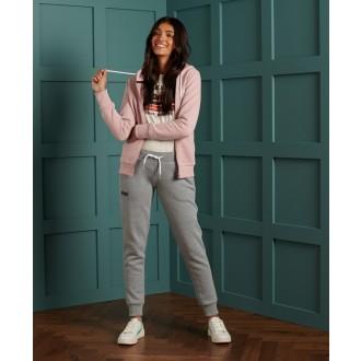 Superdry dámská mikina Label Zip - Růžová