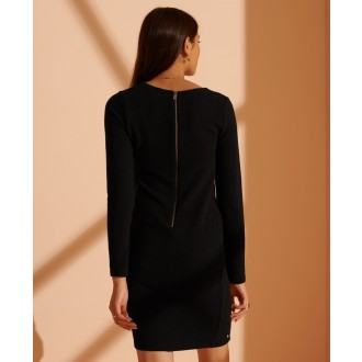 Superdry dámské šaty Ottoman Bodycon - Černá