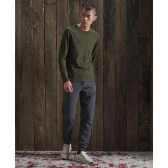Superdry pánské tričko s dlouhými rukávy Embroidered - Kaki