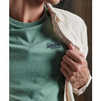 Superdry pánské tričko Embroidery - Zelená