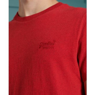 Superdry pánské tričko Embroidery - Červené