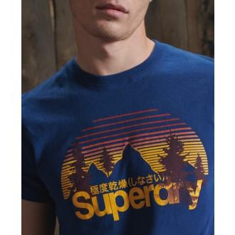 Superdry pánské tričko Core Logo Wilderness - Modré