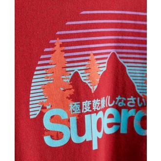 Superdry tričko Core Logo Wilderness - Červené