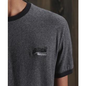 Superdry tričko Orange Label Ringer - Tmavě šedá