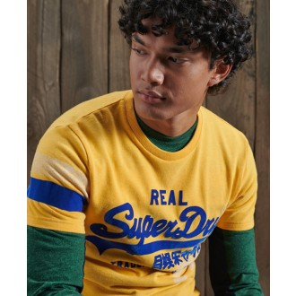 Superdry tričko Vintage Logo Varsity - Žluté