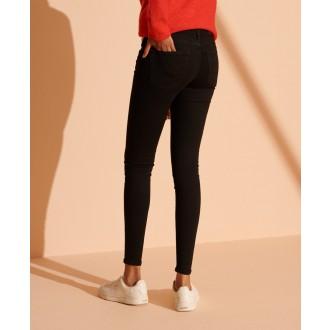 Superdry dámské riflové kalhoty Mid Rise - Černé