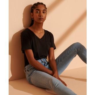 Superdry dámské riflové kalhoty Skinny Jeans - Bleděmodré