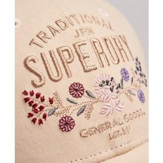 Superdry dámská kšiltovka Embroidered - Béžová