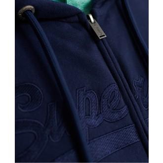 Superdry pánská mikina Embroidered - Modrá