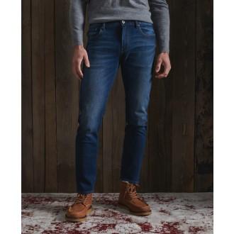 Superdry pánské riflové kalhoty Slim Jeans - Tmavěmodrá