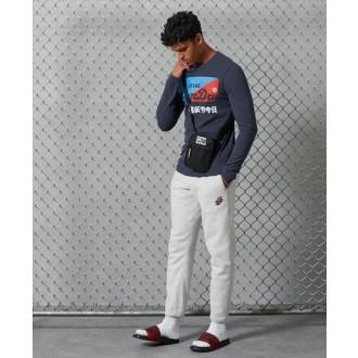 Superdry pánské tričko s dlouhými rukávy Primary - Námořnická