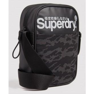 Superdry náprsní taška Neo Tarp - Tmavě šedá