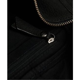 Superdry dámská ledvinka Leather - Černá
