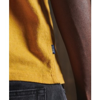 Superdry pánské tričko Organic Cotton Vintage Embroidery - Žluté