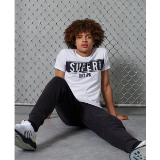 Superdry pánské triko SDRY Panel - Bílé