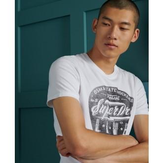Superdry pánské triko Lower East Side - Krémové