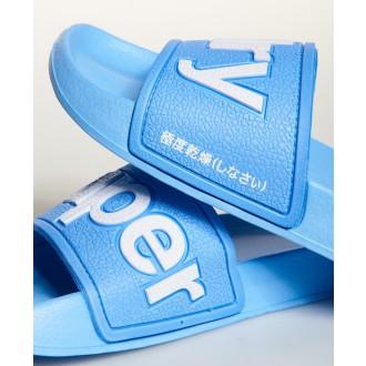Dámské pantofle SUPERDRY EVA POOL SLIDE - Modrá