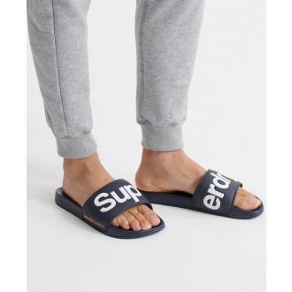 Superdry pánské pantofle Classic - Námořnická modrá