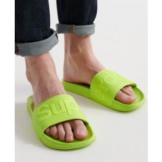 Superdry pánské pantofle City Neon - Zelená