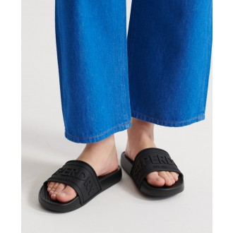 Superdry Pantofle Edit Chunky Slide - Černá