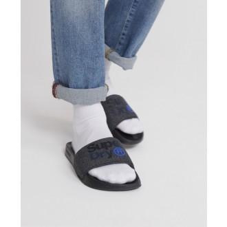 Superdry pánské pantofle Lineman - Černá