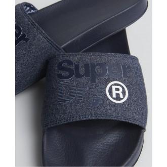 Superdry pánské pantofle Lineman - Námořnická modrá