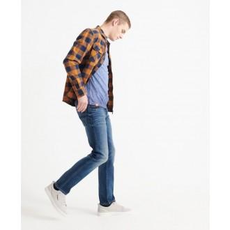 Superdry pánské triko Organic Cotton Low Roller - Námořnická modrá