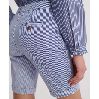 Superdry dámské krátké kalhoty City Chino - Žíhaná