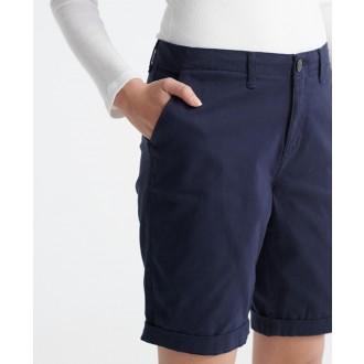 Superdry dámské krátké kalhoty City Chino - Tmavěmodrá
