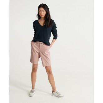 Superdry dámské krátké kalhoty City Chino - Růžová