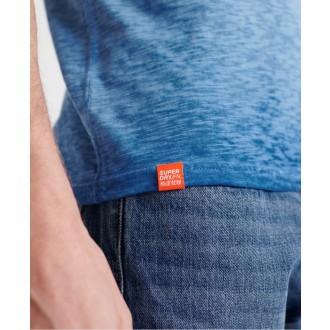 Superdry pánské triko Organic Cotton Low Roller - Tmavěmodrá