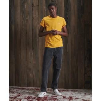 Superdry pánske tričko Organic Cotton Vintage Embroidery - Žltá