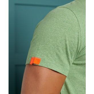 Superdry pánské triko Organic Cotton Vintage Embroidery - Zelená