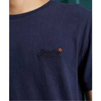Superdry pánské triko Organic Cotton Vintage Embroidered - Námořnická modrá