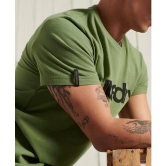 Superdry pánské triko Military Graphic Lightweight - Kaki